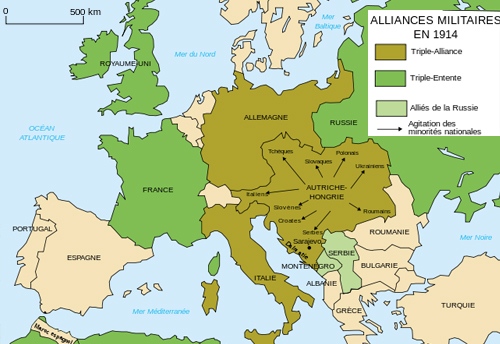 Carte des alliances